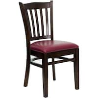 Riverdale Walnut Wood Burgundy Upholstered Classic Dining Chairs