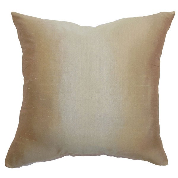 Salona Solid 22-inch Down Feather Throw Pillow Gold