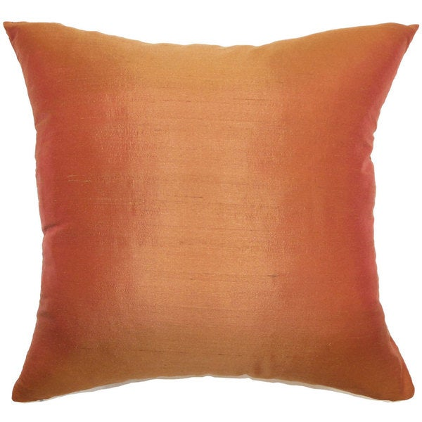 "Veristi Solid 22"" x 22"" Down Feather Throw Pillow Rust"