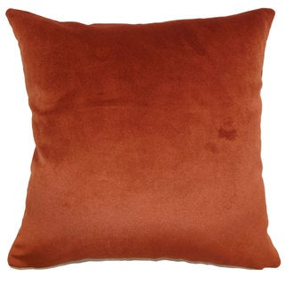 Juno Solid 22-inch Down Feather Throw Pillow Rust