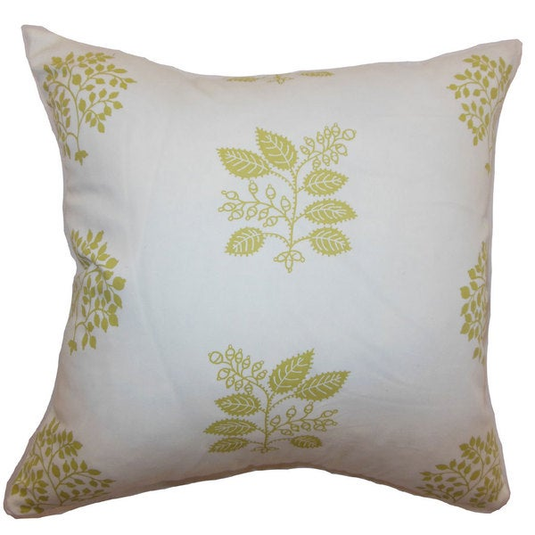 "Thaisa Floral 22"" x 22"" Down Feather Throw Pillow Sprout"