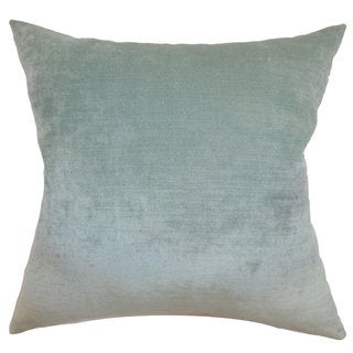 "Haye Solid 22"" x 22"" Down Feather Throw Pillow Aqua"