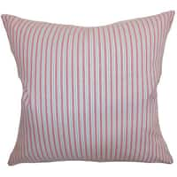 Debrah Stripes 22-inch Down Feather Throw Pillow Pink