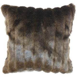 Eilonwy Mink 22-inch Down Feather Throw Pillow Brown