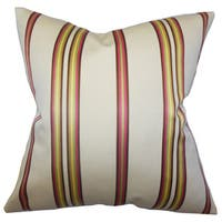 Hatsy Stripes 22-inch Down Feather Throw Pillow White Pink