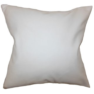 "Mabel Solid 22"" x 22"" Down Feather Throw Pillow White"
