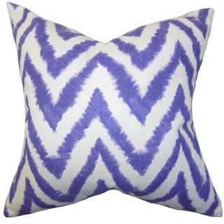 Kingspear Zigzag 22-inch Down Feather Throw Pillow Purple