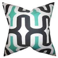 Jaslene Geometric 22-inch Down Feather Throw Pillow Jade