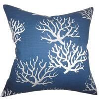 Hafwen Coastal 22-inch Down Feather Throw Pillow Navy Blue