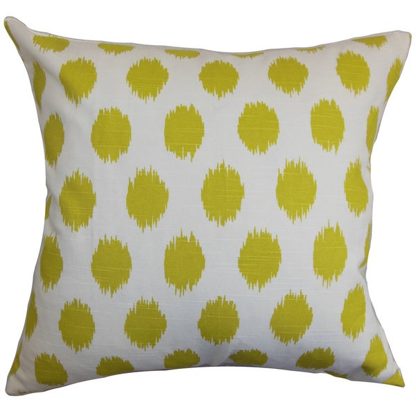 Kaintiba Ikat 22-inch Down Feather Throw Pillow Green White