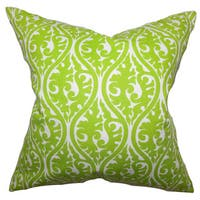 Mechria Geometric 22-inch Down Feather Throw Pillow Chartreuse Green