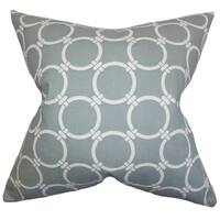 Betchet Geometric 22-inch Down Feather Throw Pillow Gray