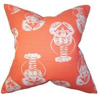 Haya Animal Print 22-inch Down Feather Throw Pillow Pink