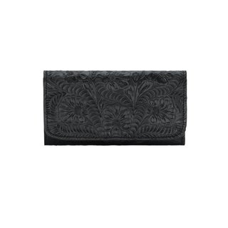 American West Leather Tri Fold Wallet