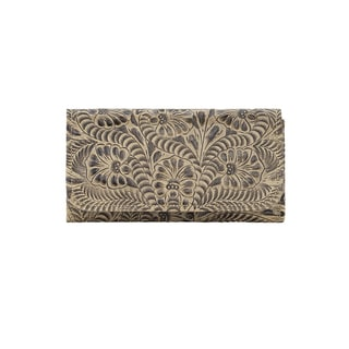 American West Leather Tr-i Fold Wallet