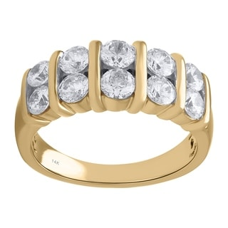14k Yellow Gold 1 1/2ct TDW Diamond Anniversary Ring (H-I, I1-I2)