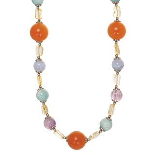 Michal Golan Brass Electroplated, Tranquility Collection Beaded Necklace
