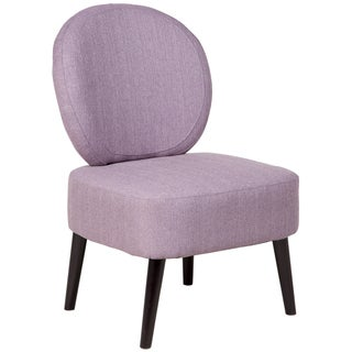 Sitswell Darcy Lilac Shield Back Contemporary Modern Accent Slipper Chair