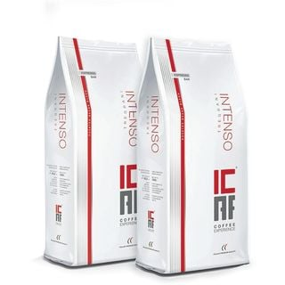 igourmet ICAF Intenso Tregrani Italian Roast Whole Bean Coffee  1kg  Duo