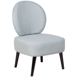 Sitswell Darcy Sky Blue Shield Back Contemporary Modern Accent Slipper Chair