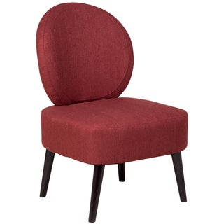 Sitswell Darcy Brick Red Shield Back Contemporary Modern Accent Slipper Chair