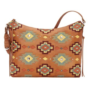 American West Adobe Allure Zip Top Shoulder Bag