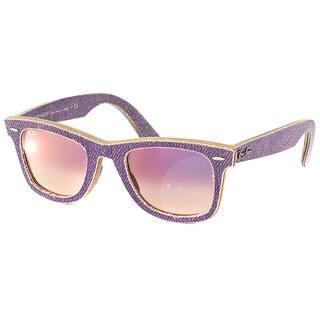 0f39c6ee47 Ray Ban RB 2140 Original Wayfarer Denim Violet Jeans Gradient Sunglasses