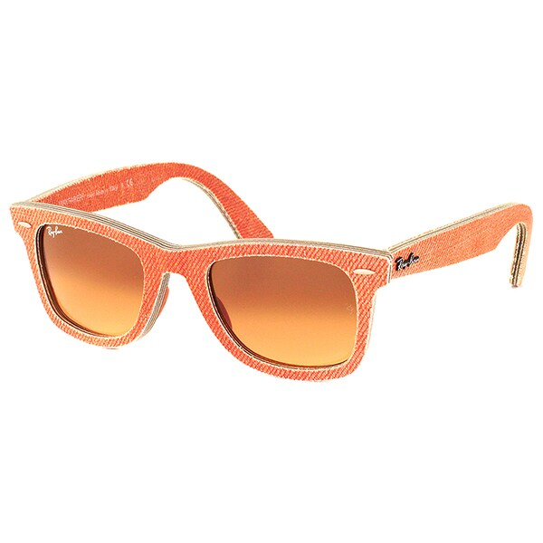 a9168296216 Ray Ban RB 2140 Original Wayfarer Denim 11653C Orange Jeans Sunglasses with  Brown Gradient Lens