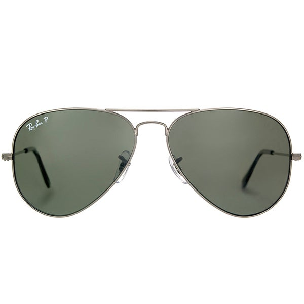 92af4c367a8e9e Ray-Ban RB 3025 Classic Aviator 004 58 Gunmetal Sunglasses with Crystal  Green Polarized