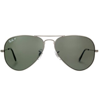 af49a24aad Shop Ray-Ban RB 3025 Classic Aviator 004 58 Gunmetal Sunglasses with ...