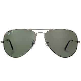 869c550de0a Ray-Ban RB 3025 Classic Aviator 004 58 Gunmetal Sunglasses with Crystal Green  Polarized