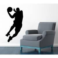 Basketball Player Decal Gym Interior Design Vinyl Sticker Home Design Art Dorm Mural Decor Sticker D