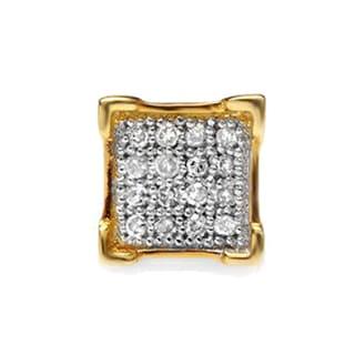 Elora 10k Yellow Gold Men's Round Diamond Accent Iced Stud Earrings (I-J, I2-I3)