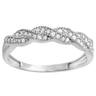 Elora 10k Gold 1/4ct TDW Round Diamond Anniversary Stackable Band (H-I, I1-I2)