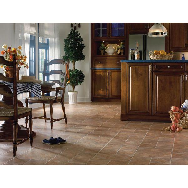Faux Wood Flooring Reviews: Shop Castilian Block Faux Stone Interlocking Laminate
