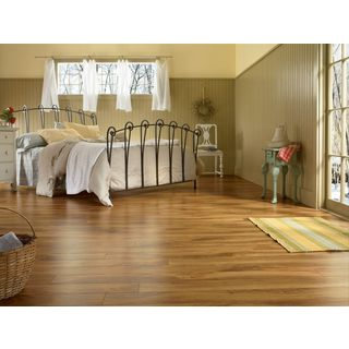 Armstrong Grand Illusions Gold, Orange, and Brown Laminate Flooring Pack (13.05 Square Feet Per Case Pack)