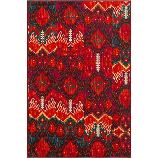 Liwanu Nylon Area Rug (8 x 10 - Orange)