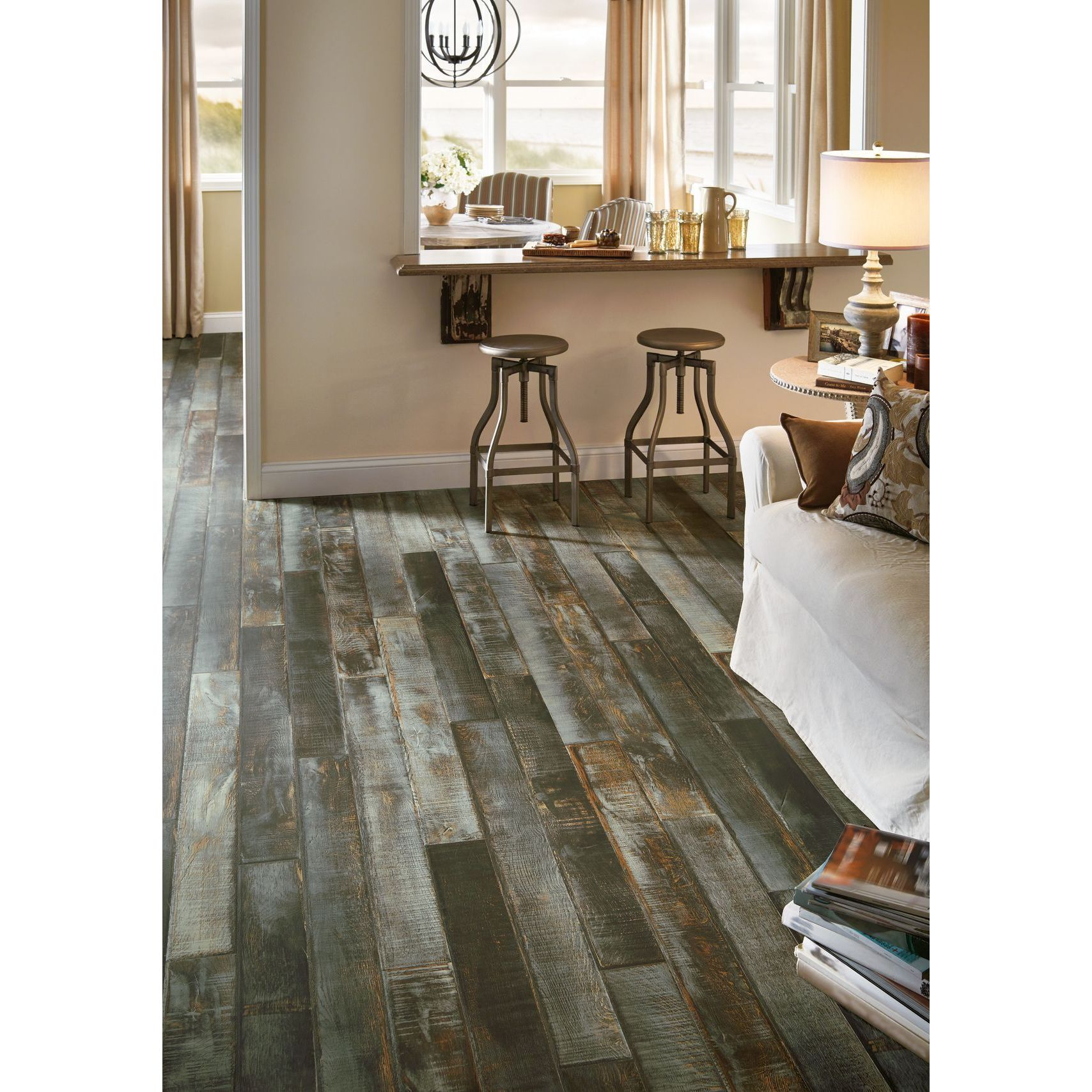 Armstrong Architectural Remnants Faux Wood Laminate Floor...