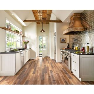 Armstrong Architectural Remnants Grey, Beige, And Brown Laminate Flooring  Pack (13.07 Square Feet