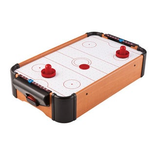 Mainstreet Classics Wood Tabletop Air Powered Hockey Set