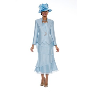 Giovanna Signature Women's Organza Trimmed 3-piece Skirt Suit