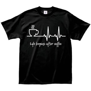 Life Begins After Coffee Cotton Coffee Lovers T-shirt
