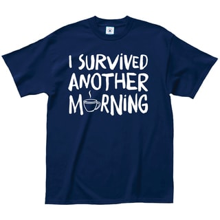 L.A. Imprints Attitude Men's 'I Survived Another Morning' Cotton Coffee Lovers T-Shirt