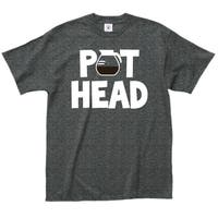 'Pot Head' 100-percent Cotton Coffee Lovers T-shirt
