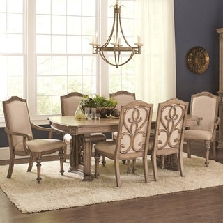 La Bauhinia French Antique Carved Wood Design Dining Set