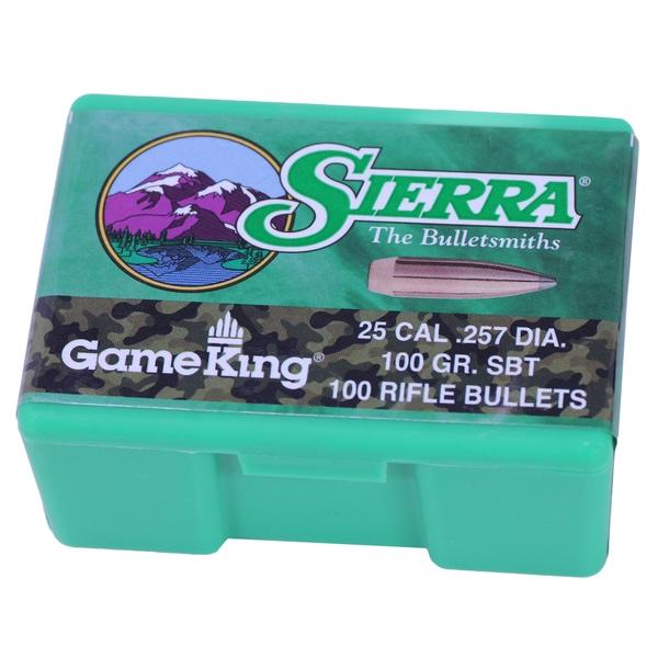 Sierra Bullets 25 Caliber 100 Gr SBT (Per 100)