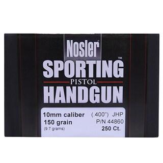 Nosler 10mm Bullets Sporting Handgun, 150 Grains, Jacketed Hollow Point, Per 250
