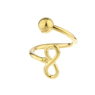 Solid 10k Yellow Gold Infinity Design Belly Button Ring