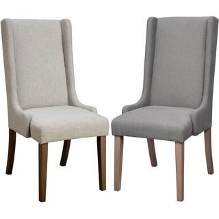 Wing Back Design Dining Chairs (Set of 2)