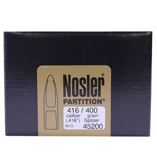Nosler 416 Caliber Bullets Partition, 400 Grains, Spitzer, Per 50